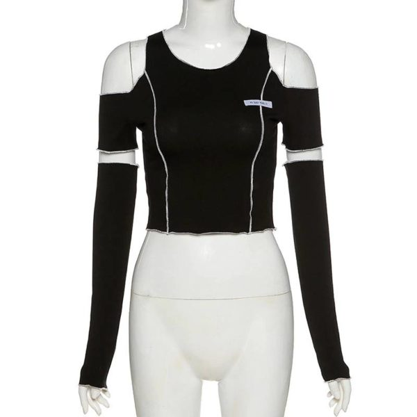 Gothic Y2k Techwear Crop Top