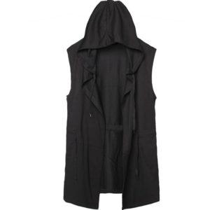Men's Streetwear Techwear Hooded Sleeveless Vest
