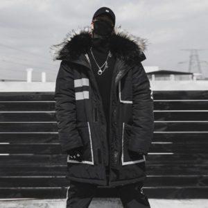 11 BYBB'S DARK Black Winter Thick Jacket Parkas Men Hooded Fur Collar Coats Parka Streetwear Mens Hip Hop Long Warm Coats DG175