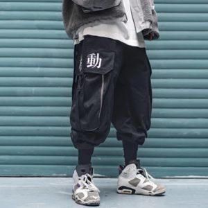 11 BYBB'S DARK Multi Pocket Hip Hop Pants Men Ribbon Elastic Waist Harajuku Streetwear Joggers Mens Trousers Techwear Pants