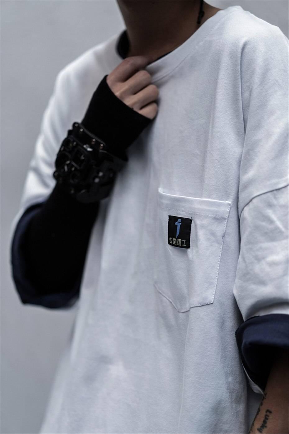 11 BYBB'S DARK Summer Oversize T-shirts Men Streetwear Casual Short Sleeve Tops Tees Cotton Tshirt Loose WB121