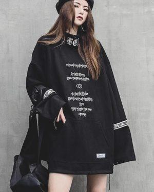 11 BYBB'S DARK Vintage Embroidery Hip Hop Hoodie Techwear Tactical Streetwear Hoodie Sweatshirt Mens Streetwear Pullover Cotton
