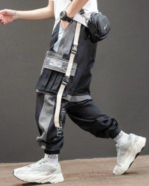 Harajuku Jogging Pants Men Japanese Streetwear Military Cargo Pants Hip Hop Techwear Trousers Sweatpants for Male Korean Clothes