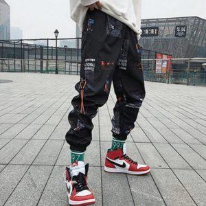 Hip hop Pants Unisex Loose Joggers Pants with Print Streetwear Harem Pants Clothes Ankle length Trousers Harajuku Sport Casual