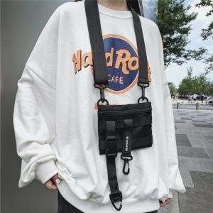 Multi-pocket Tactical Functional Waist Pack Techwear Casual Phone Pouch Outdoor Running Hip Hop Chest Rig Belt Bags Streetwear