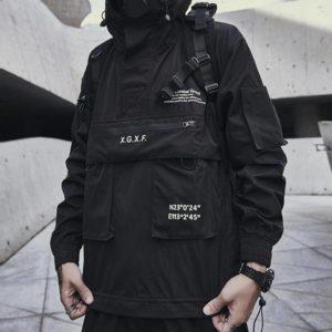 Punk Techwear Oversize Hoodies