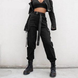 Streetwear Techwear Cargo Pants for Women