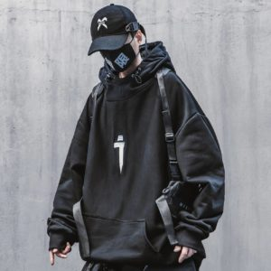 Techwear Harajuku Hoodie for Mens