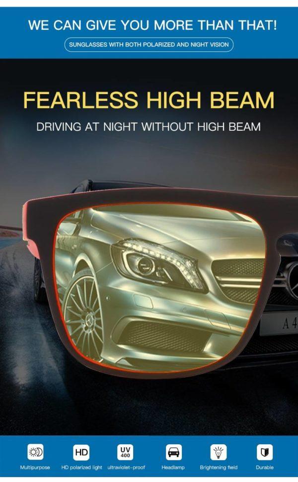 Techwear Night Vision Glasses Men Women Polarized Sunglasses Yellow Lens Anti-Glare Goggle Night Driving Sun glasses UV400 Eyewear