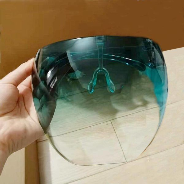 Techwear Unisex Colorful Eye Shield Visor Large Mirror cycling Sun Glasses Half Face Shield Guard Protector Face Mask Anti-spray Mask