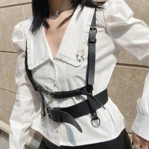 Y Demo Harajuku Techwear Women Waist Belt Adjustable Straps Buckle Accessory For Female Fashion
