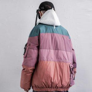 11 BYBB'S DARK 2020 Color Block Patchwork Thicken Parka Jackets Zipper Men Streetwear Padded Jackets Harajuku Parka Coats Hippop