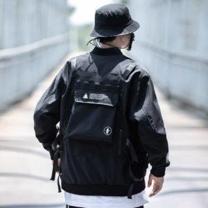11 BYBB'S DARK Back Pocket Jacket Coat Men Embroidery Bomber Jacket Outwear Streetwear Solid Cargo Jacket Techwear Autumn Jacket