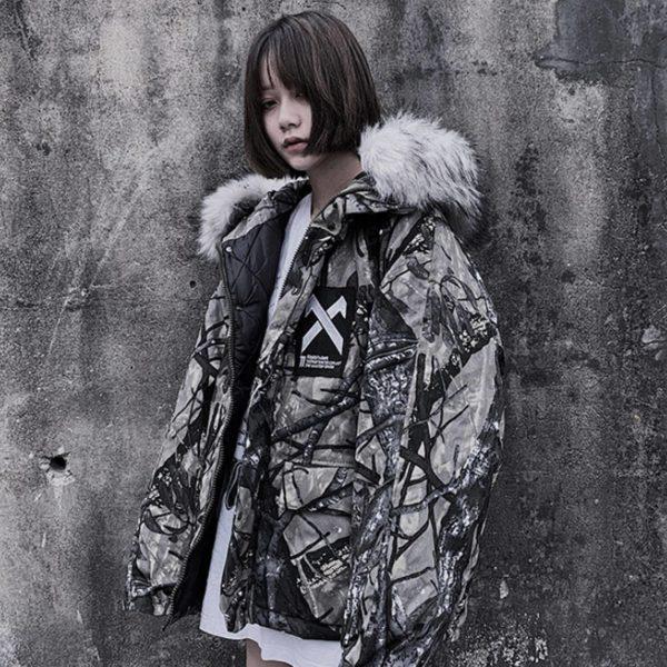 11 BYBB'S DARK Hip Hop Hooded Parkas Jacket Men 2019 Branch Camouflage Harajuku Tops Streetwear Men Winter Thick Coats Outerwear
