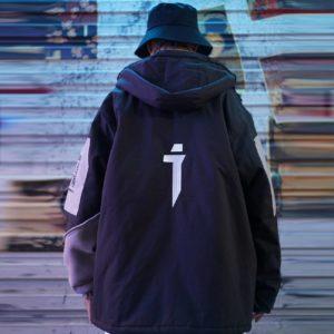 11 BYBB'S DARK Hip Hop Retro Patchwork Padded Jackets Men Streetwear Embroidery Parkas Jacket Tactical Harajuku Windbreaker Coat