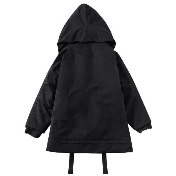 11 BYBB'S DARK Hip Hop Streetwear Padded Parka Men Creative Wizard Hat Tactical Cargo Jacket Men Harajuku Windbreaker Parka Coat