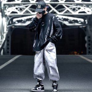 11 BYBB'S DARK Hip Hop Tactical Sweatshirt Men 2020 Fashion Streetwear Tie Dye Print Hoodie Casual Cotton Loose Pullover Hipster
