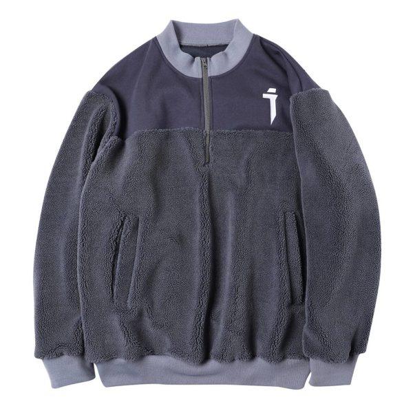11 BYBB'S DARK Tactical Harajuku Hoodie Men Patchwork Lambswool Winter Cotton Pullover Hip Hop Streetwear Hoodie Sweatshirt Man