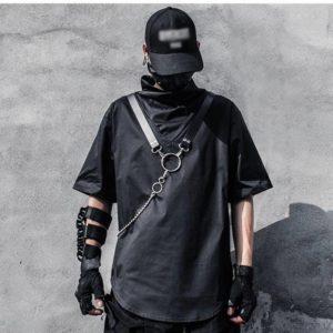 11 BYBB'S DARK Techwear Hip Hop T-Shirt Mens Tactical Function Summer Harajuku Tshirts Cotton Loose Short Sleeve Shirts Streetwe