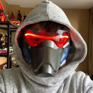 ABS Plastic Soldier 76 Masks With LED Luminous Cosplay Soldier76 Mask With Light Soldier 76 Costume Without Battery Airsoft