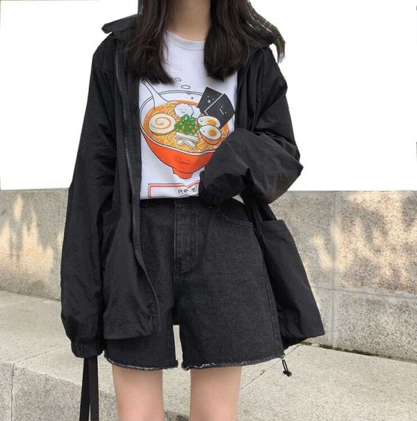 Autumn 2020 Korean clothing Loose Print and Patchwork Fashion College Jacket Work Clothes Long Sleeve Jacket Women