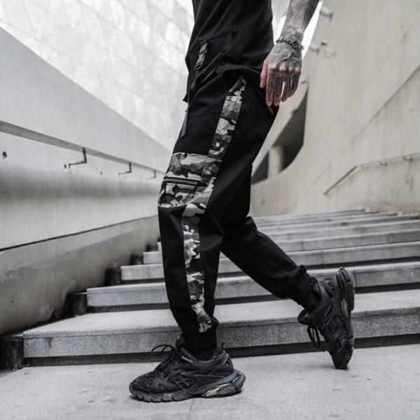 Camouflage Multi Pockets Cargo Pants Men Harajuku 2021 New Casual Joggers Track Streetwear Trouser Men Hip Hop Pants
