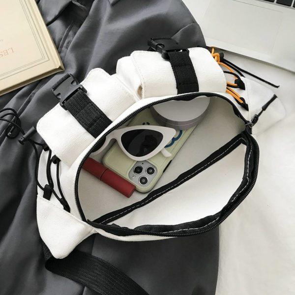 Canvas Contrast Detail Techwear Waist Bag