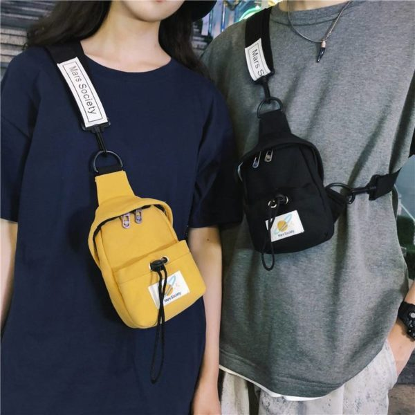 Canvas Portable Adjustable Techwear Sling Bag
