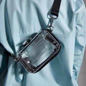 Casual Small Box Designer Bag Women's Shoulder Crossbody Bags 2021 New Fashion Transparent Wide Shoulder Strap Sac Messenger Bag