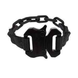 Cool Black Resin Link Cuff Tactical Clips Buckle Bracelet Unisex Men Women Hand Bracelets
