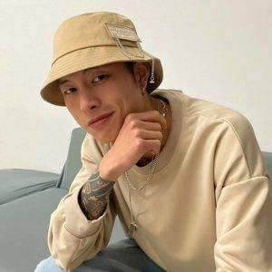 Cotton Chain Detail Techwear Bucket Hat
