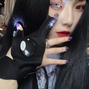 Cyber Punk Style Half-Finger LED Glove