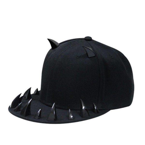 Cyber Punk Style Horns Baseball Cap