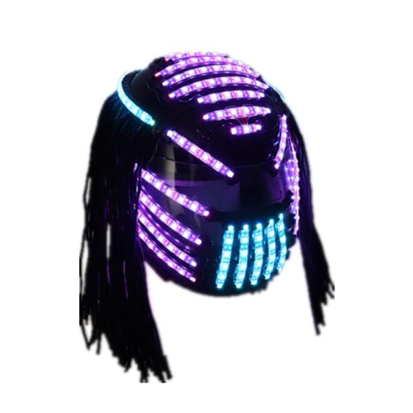 Cyber Punk Style RGB LED Helmet