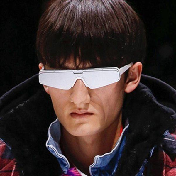 Futuristic Fashion Half-Frame rectangle Square Sunglasses Women men Luxury Brand Retro hip hop hippie Driving Sun Glasses oculos