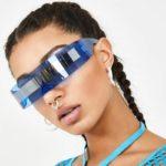 Futuristic Luxury Super Cool Sunglasses Women Weird Siamese Fashion Glasses Vintage Sunglasses