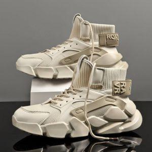 HIGHt© Men's Chunky Platform Techwear Sneakers