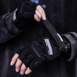 Half Full Finger Motorcycle Tactical Gloves Techwear Accessories Outdoor Reflective Elements S2530