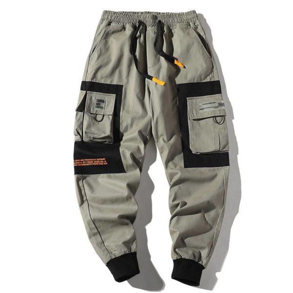Hip Hop Men Multi-pocket Pants Male Casual Cargo Pants Streetwear Mens Joggers Ankle Length Loose Sweatpants Harajuku Trousers