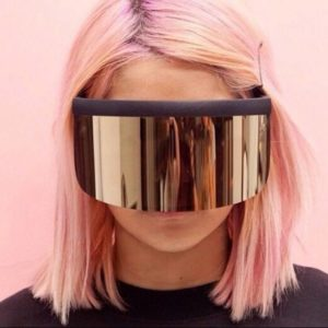 JackJad 2020 Fashion Oversized Mask Shape Shield Style Sunglasses Cool Street Snap Brand Design Sun Glasses Oculos De Sol 1799