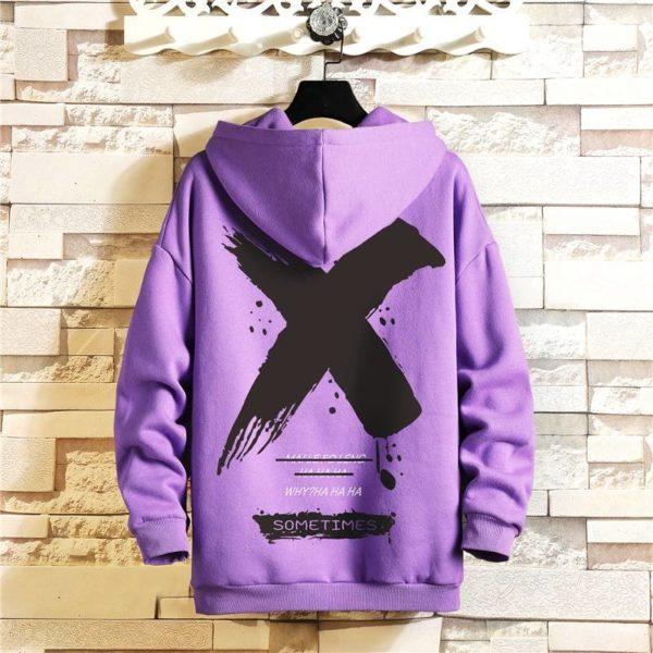 Japan Style Casual O-Neck 2021 Spring Autumn Print Hoodie Sweatshirt Men'S Thick Fleece Hip Hop High Streetwear Clothes