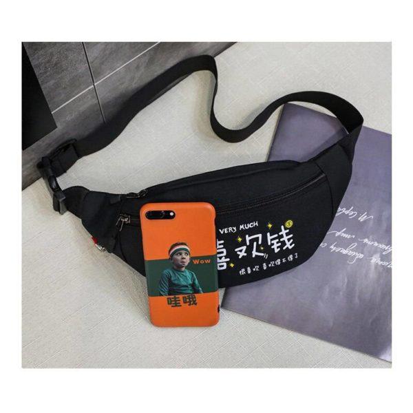 Japanese Style Chest Bag Men's Street Messenger Pack Casual Sports Shoulder Bags Waist Belt Bag Women Fanny Packs Bum Hip Bag