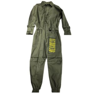 Men's Solid Color Cotton Belted Techwear Overall