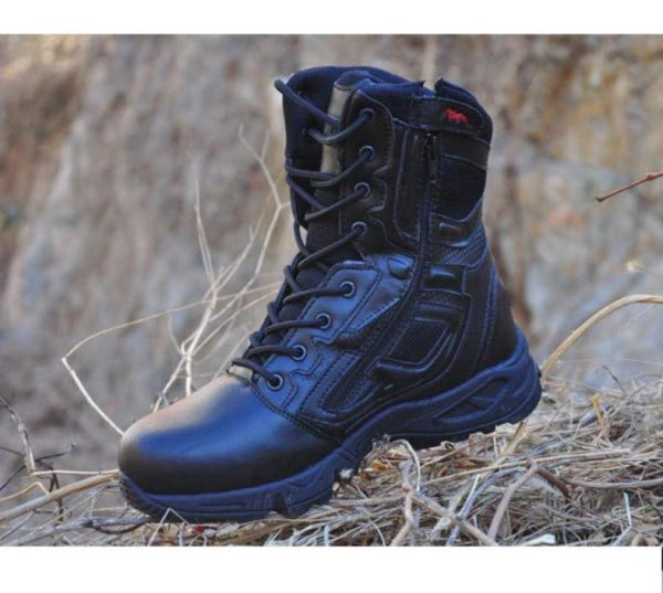 Man Trekking Outdoor Shoes Tactical mountain Military Black Waterproof Leather Boot Men Camping Climbing Hiking Hunting Boots