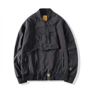 Men Bomber Jacket 2021 Mens Mulit-Pocket Cargo Bomber Jackets Steetwear Hip Hop Windbreaker Coats Outwear