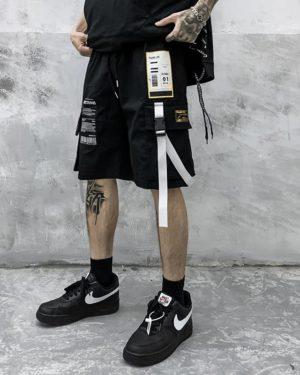 Men Cargo Shorts Straight Loose Fashion 2021 Summer Male Short Trousers Hip Hop Streetwear Men Clothing Bermuda Masculina