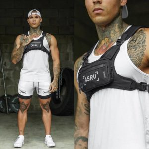Men Chest Bags Tactical Vest New Fashion Reflective Safety Chest Pack Male Hip Hop Mini Chest Bag Multi-function Travel Pocket
