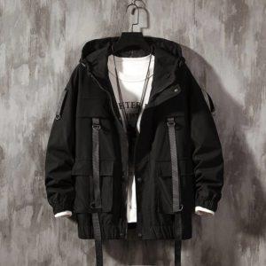 Men Harajuku Warm Coat Winter Jacket 2021 Autumn Mens Streetwear Hip Hop Parka Korean Black Clothes Bomber Jackets Men Women