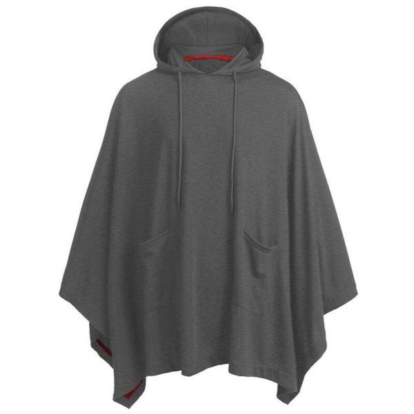 Men's Contrast Lines Techwear Hooded Poncho