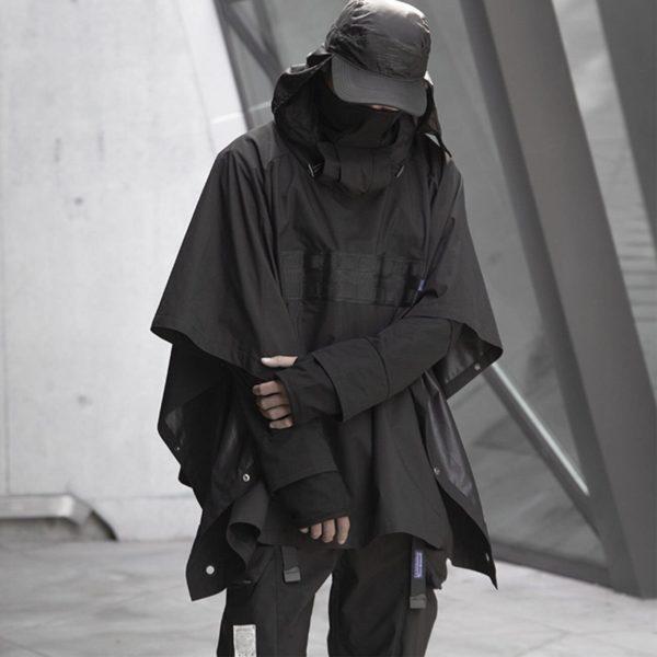 Men's Dark Ninja Waterproof Techwear Cape